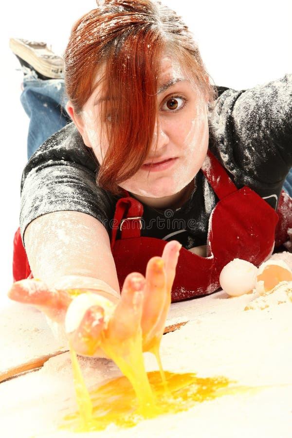 печенья выпечки предназначенные для подростков стоковое изображение rf
