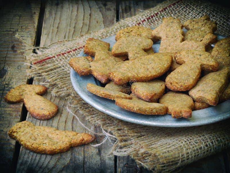 печенья в форме животные стоковое изображение