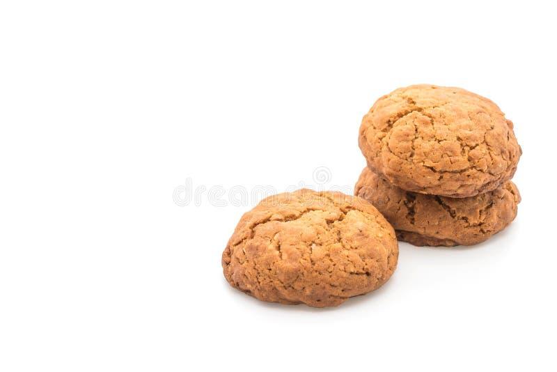 Печенья изюминки овсяной каши на белизне стоковая фотография