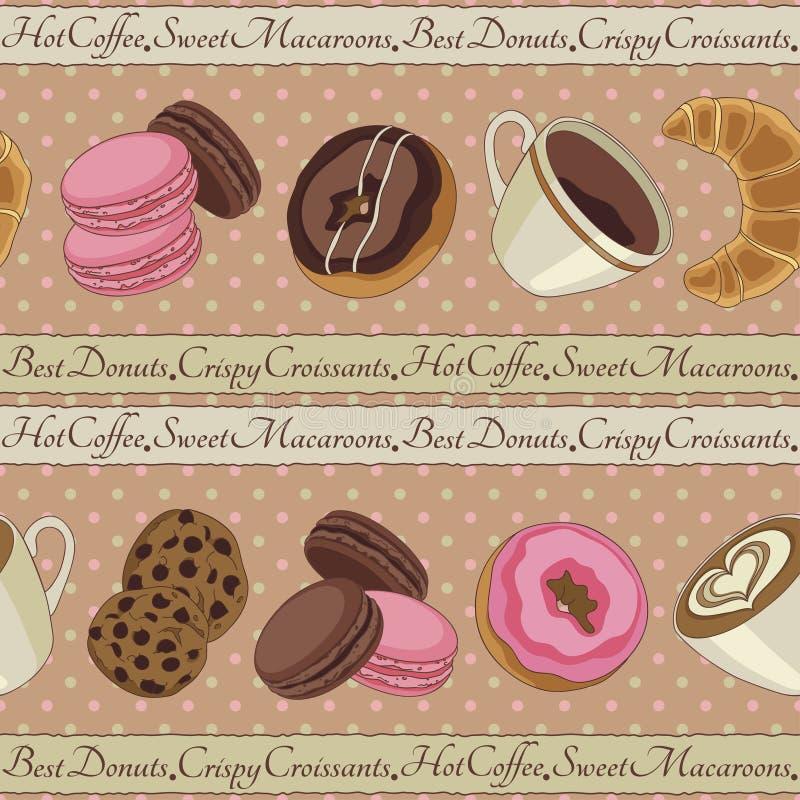 Печенья и картина кофе, бежевая бесплатная иллюстрация