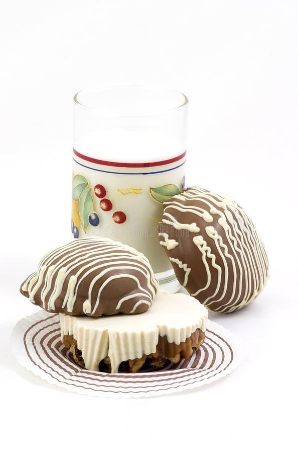 Печенья и молоко шоколада стоковое фото rf