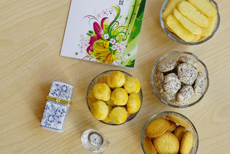 Печенья, который служат специально на Eid Mubarak стоковые фотографии rf