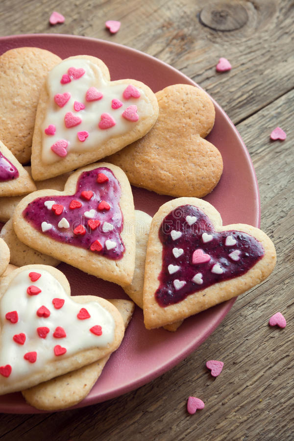 Печенья на день ` s валентинки стоковое фото rf
