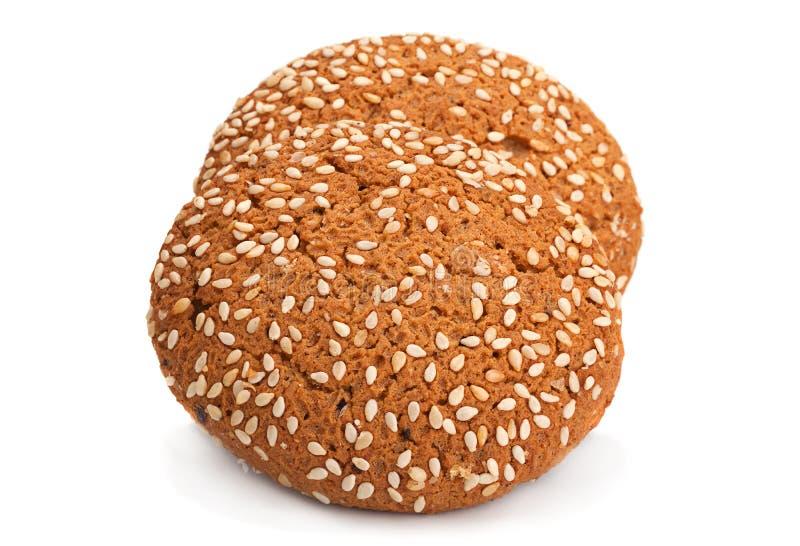 Печенья овсяной каши на белизне стоковое фото