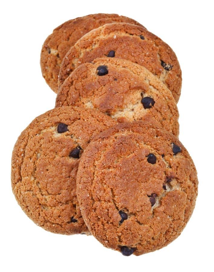Печенья овсяной каши обломока шоколада стоковые изображения