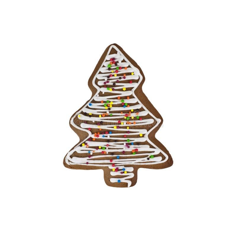 Печенья пряника рождества изолированные на белой предпосылке стоковое изображение