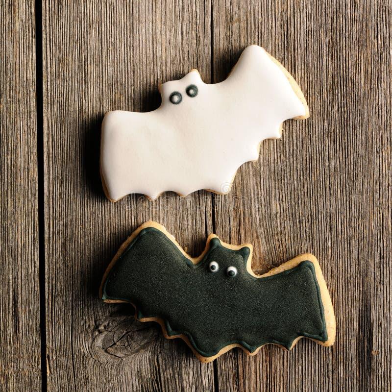 Печенья пряника хеллоуина домодельные стоковое изображение