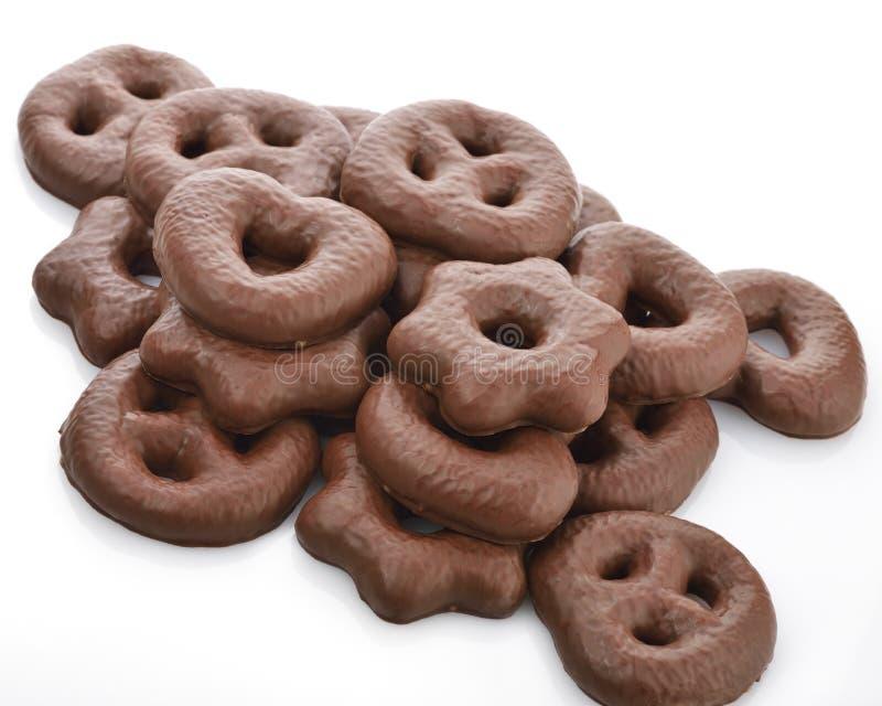 Печенья пряника шоколада стоковая фотография