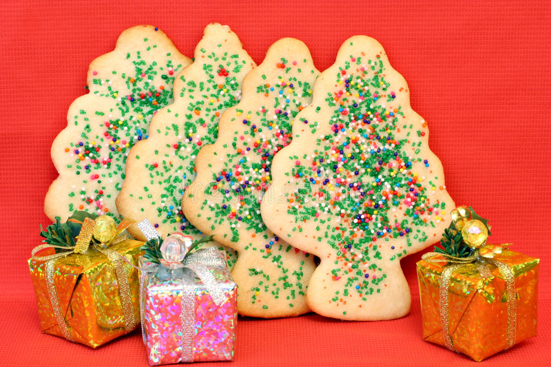 печенья рождества засахаривают вал стоковое изображение rf