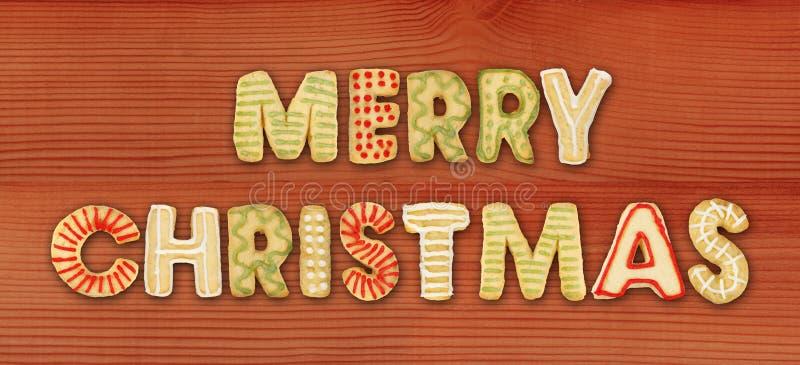 печенья рождества сделали веселой стоковое изображение rf
