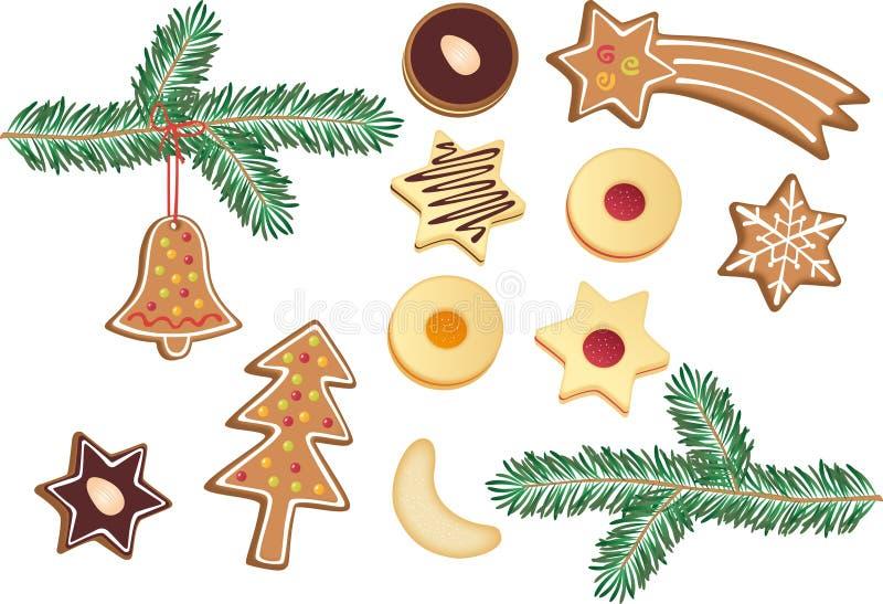 печенья рождества иллюстрация штока