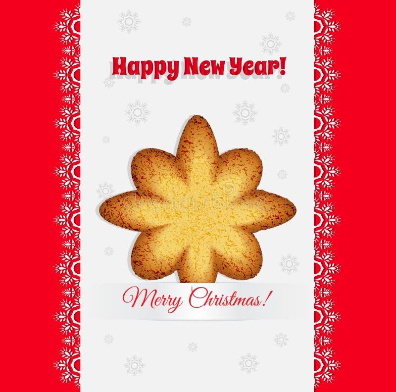Печенья рождества в форме вектора звезды бесплатная иллюстрация
