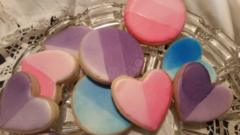 Печенья сахара Ombre стоковые фото