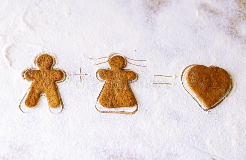 Печенья сделанные на день валентинки St стоковое изображение rf