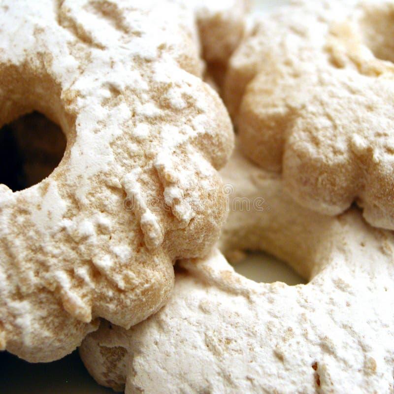 Печенья с сахаром порошка стоковое изображение