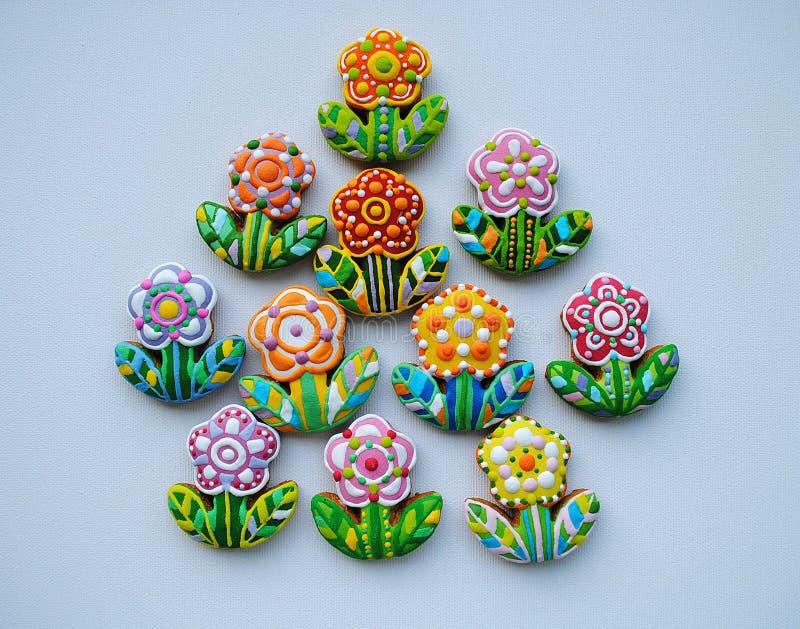 печенья украсили сахар стоковое изображение