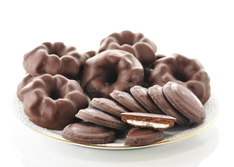 печенья шоколада стоковое фото