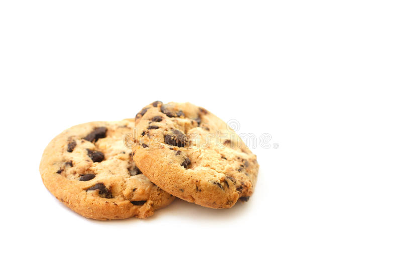 печенья шоколада обломока предпосылки белые стоковое изображение rf