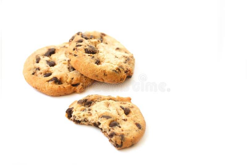 печенья шоколада предпосылки белые стоковые изображения