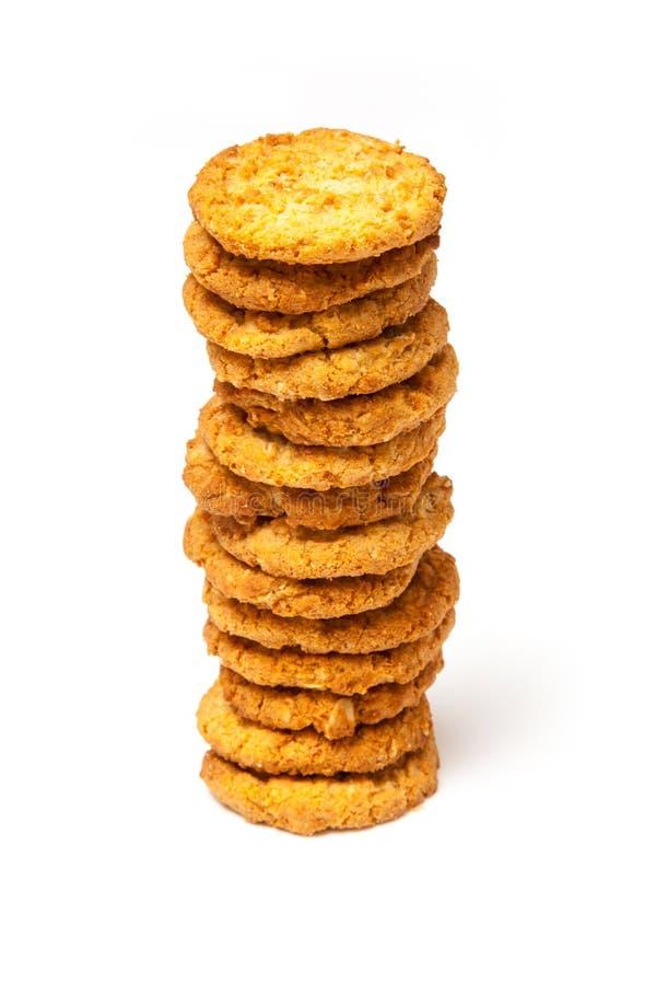 Печенья Anzac на белой предпосылке стоковое изображение