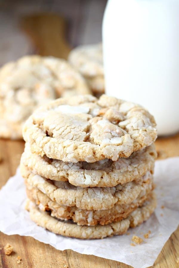 Печенья Crinkle Butterscotch стоковая фотография