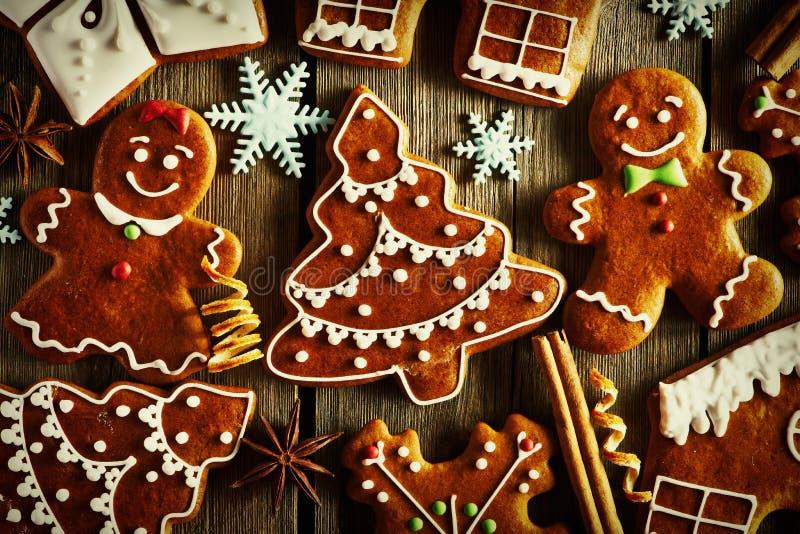 Печенья gingerbread рождества домодельные стоковые фото