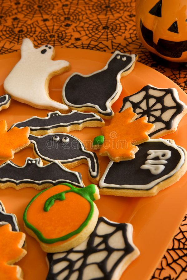 печенья halloween стоковое изображение rf