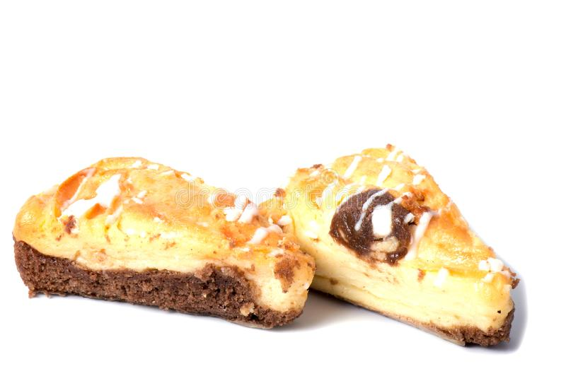 Печенья Shortbread на белой предпосылке, стоковое изображение