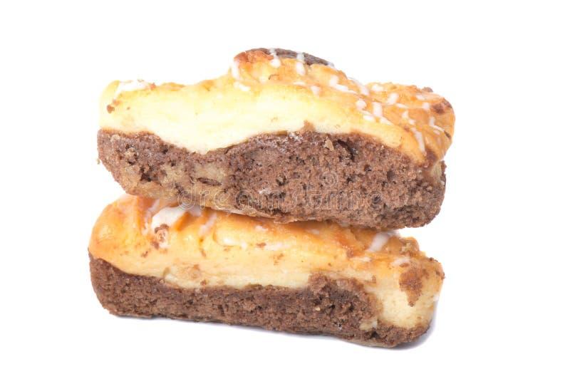 Печенья Shortbread на белой предпосылке, стоковые изображения rf