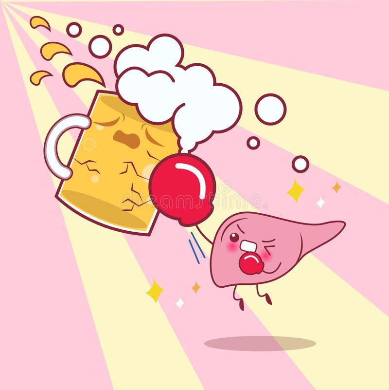 Печень с проблемой здоровья бесплатная иллюстрация