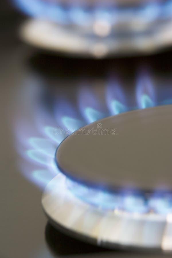 печка близкого газа естественная вверх стоковые изображения