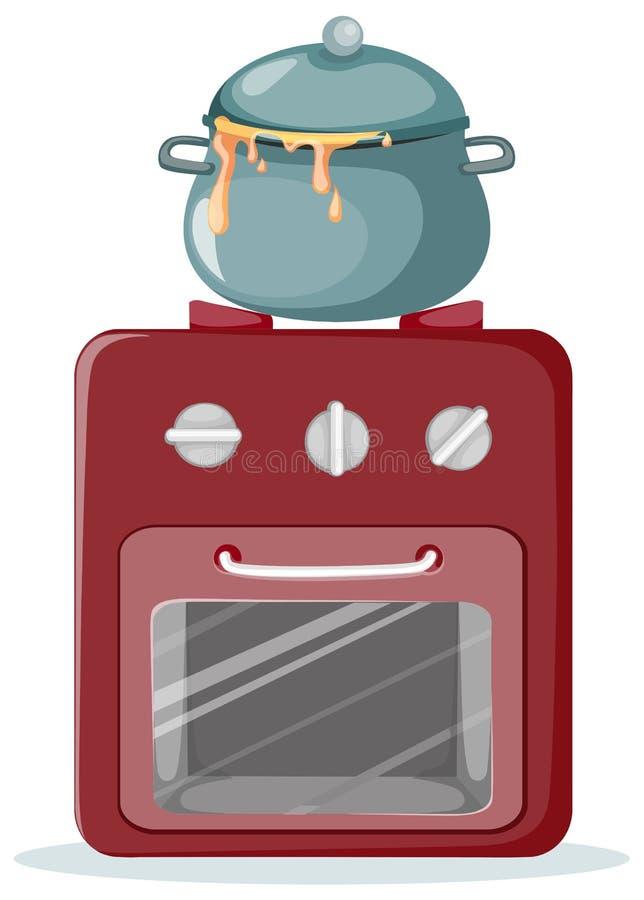 печка кухни иллюстрация вектора