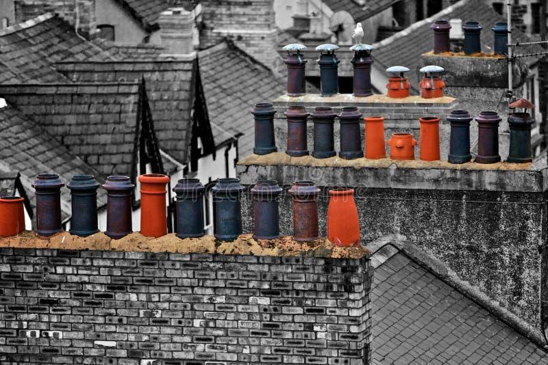 Печные трубы в Уэльсе стоковая фотография rf
