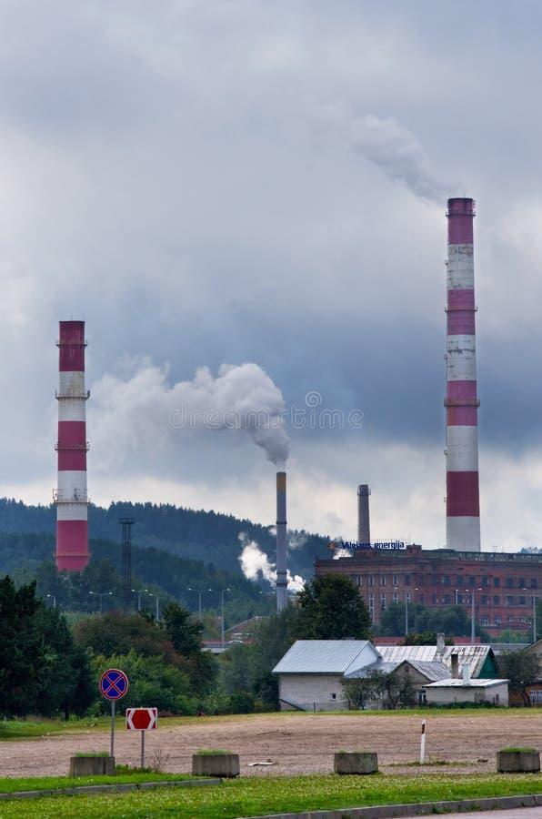 Печные трубы топления силы Вильнюс стоковые фото