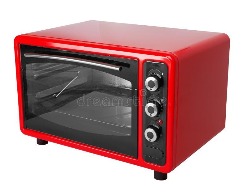 Печь красного цвета кухни стоковая фотография rf