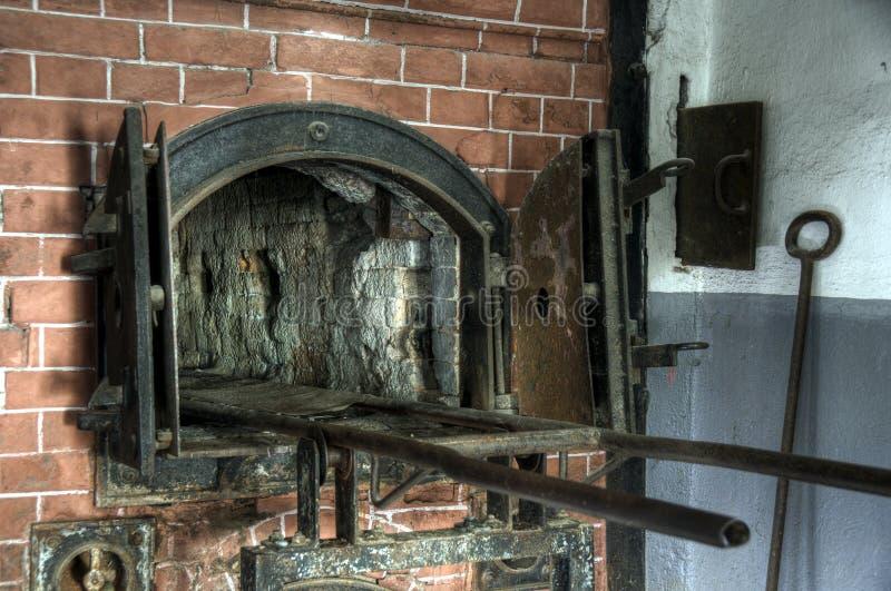 Печь крематорий около газовой камеры на Mauthausen стоковое фото rf
