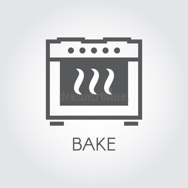 Печь печет чертеж значка в плоском стиле для различных варя проектов или дизайна интерьера кухни иллюстрация штока