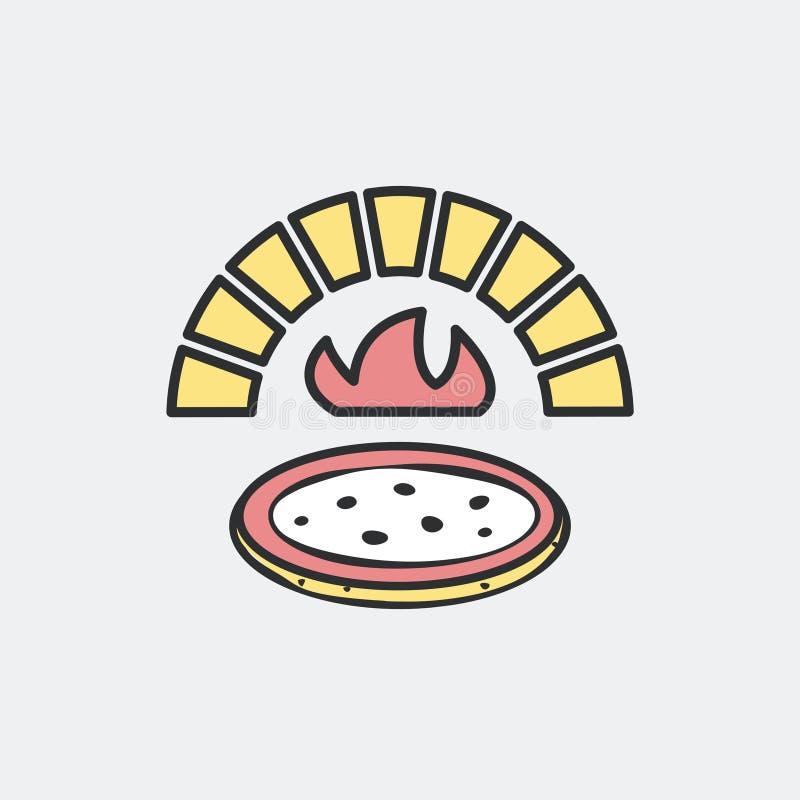 Печь пиццы и древесины иллюстрация вектора