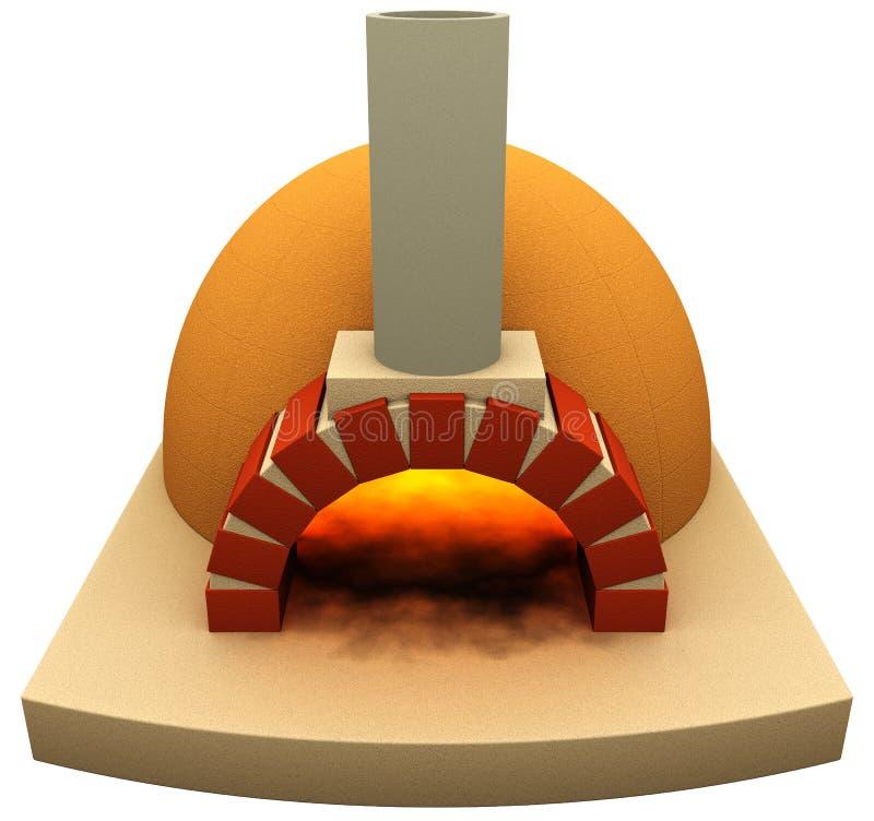 Печь пиццы иллюстрация вектора