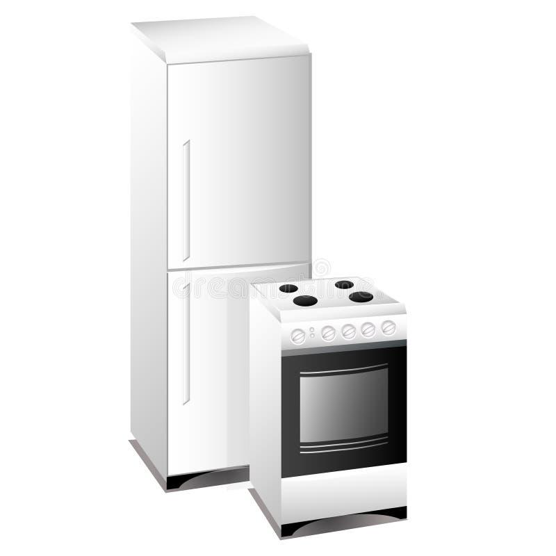 печь холодильника иллюстрация вектора