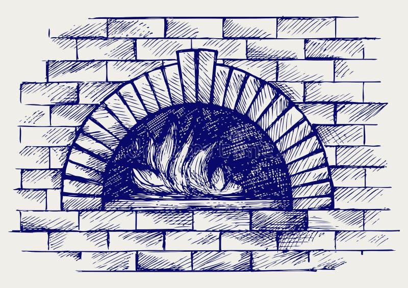 Печь для варить иллюстрация штока