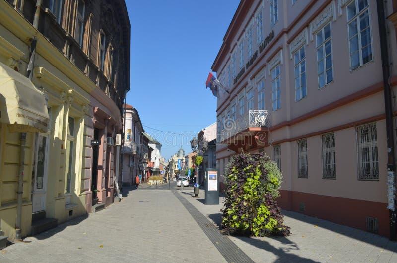 Пешеходная улица novi унылая Сербия стоковые изображения
