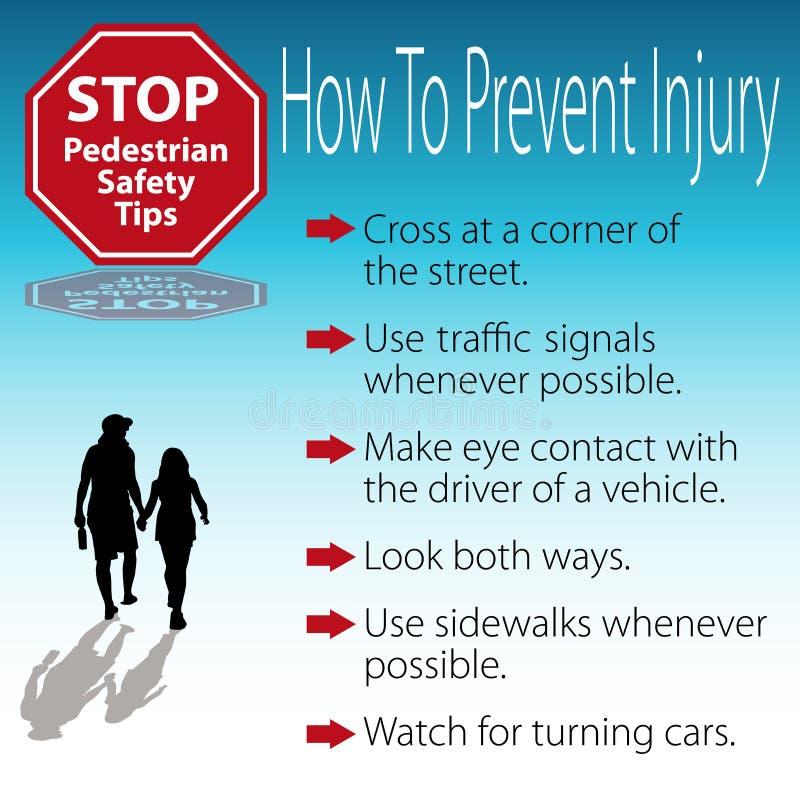 пешеходные подсказки безопасности плаката иллюстрация штока