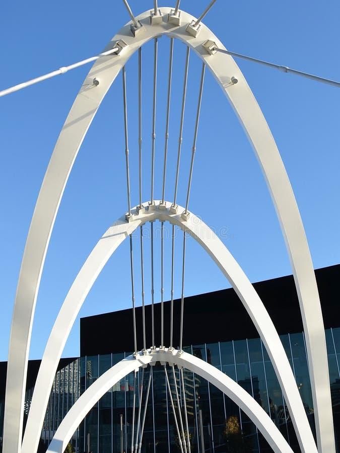 Пешеходный мост Southgate, город Мельбурна, Виктория стоковые изображения rf