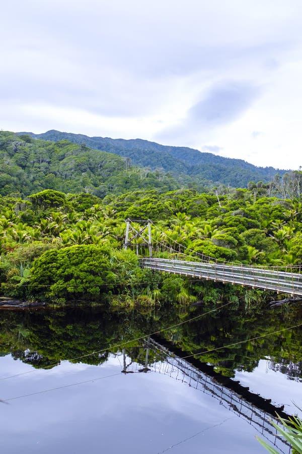 Пешеходный мост spanning над водой стоковое изображение