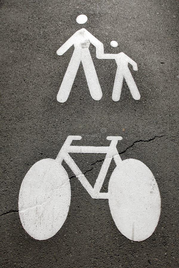 пешеходы bike стоковая фотография rf