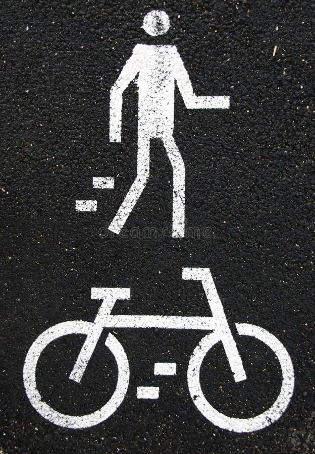 пешеход велосипеда стоковое фото rf