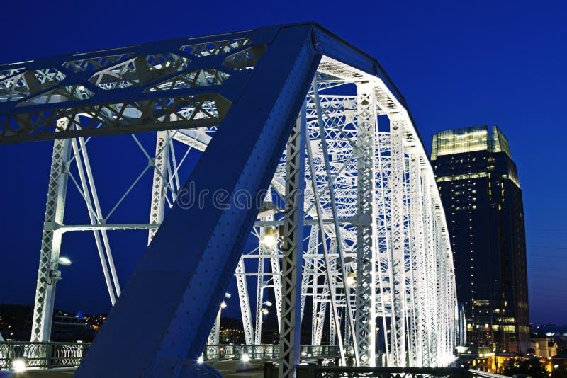 пешеход nashville моста стоковая фотография rf