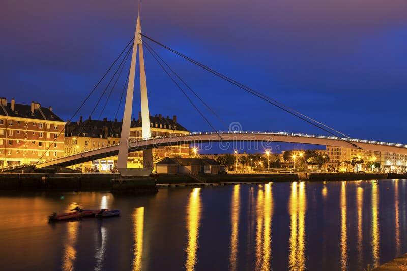 Пешеходный мост в Гавр стоковое фото rf