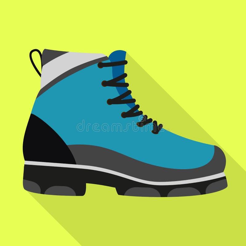 Пеший значок ботинка, плоский стиль иллюстрация штока